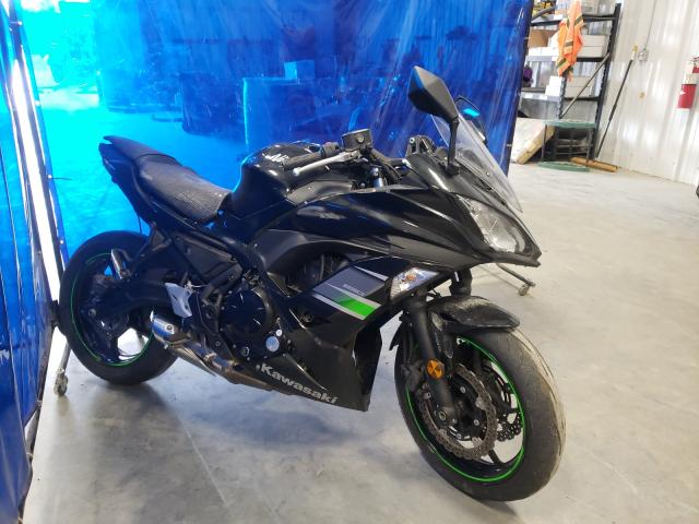 Salvage cars for sale from Copart Spartanburg, SC: 2019 Kawasaki EX650 F