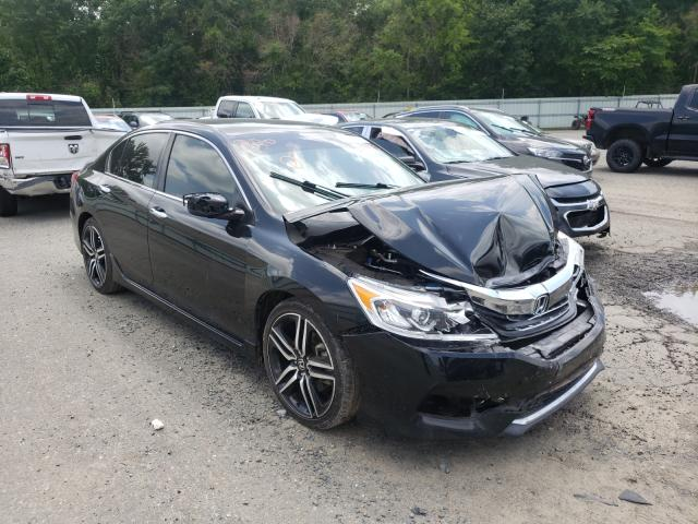 Salvage cars for sale from Copart Shreveport, LA: 2017 Honda Accord Sport