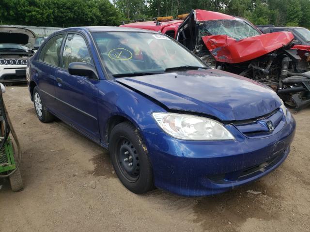 Salvage cars for sale from Copart Davison, MI: 2004 Honda Civic DX V