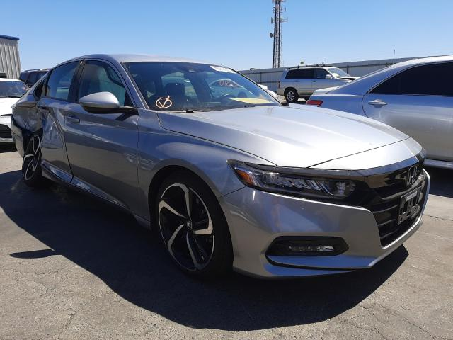 Salvage cars for sale from Copart Fresno, CA: 2018 Honda Accord Sport