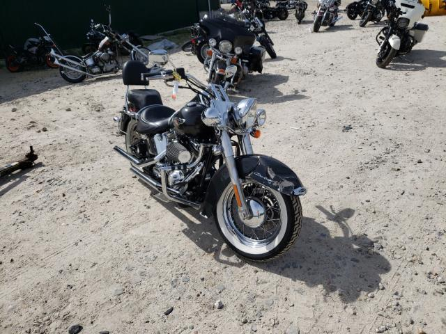 Salvage motorcycles for sale at Candia, NH auction: 2005 Harley-Davidson Flstni