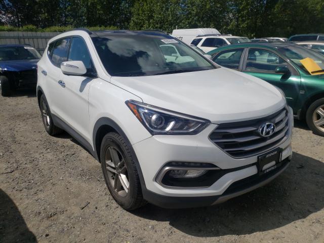 Salvage cars for sale from Copart Arlington, WA: 2017 Hyundai Santa FE S