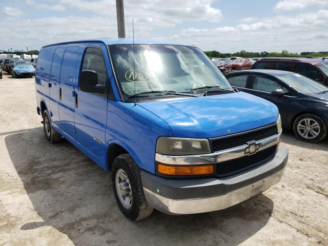 Salvage cars for sale from Copart Temple, TX: 2003 Chevrolet Express G2