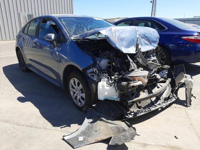 Salvage cars for sale from Copart Fresno, CA: 2021 Toyota Corolla LE