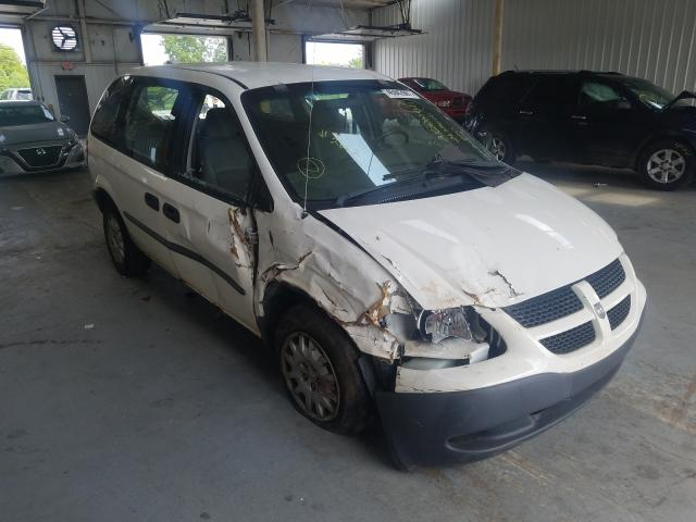 Salvage cars for sale from Copart Dyer, IN: 2003 Dodge Caravan C