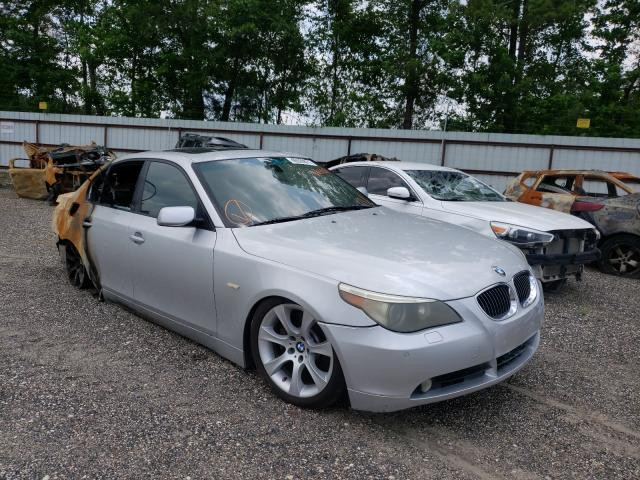 Salvage cars for sale from Copart Lufkin, TX: 2005 BMW 545 I