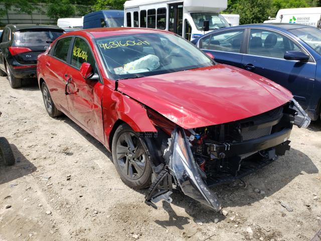 Salvage cars for sale from Copart Mendon, MA: 2021 Hyundai Elantra SE