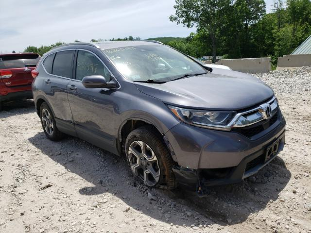 Salvage cars for sale from Copart West Warren, MA: 2017 Honda CR-V EX