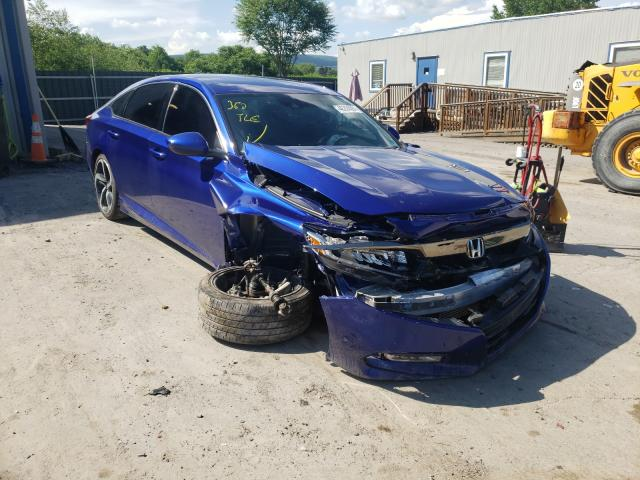 Salvage cars for sale from Copart Duryea, PA: 2018 Honda Accord Sport