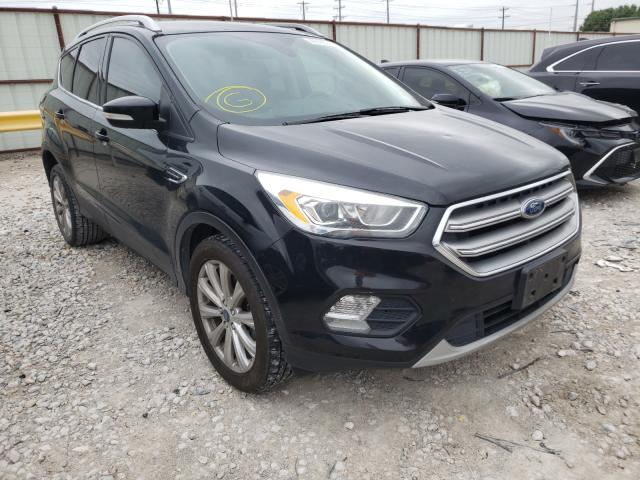 Salvage cars for sale from Copart Haslet, TX: 2017 Ford Escape Titanium