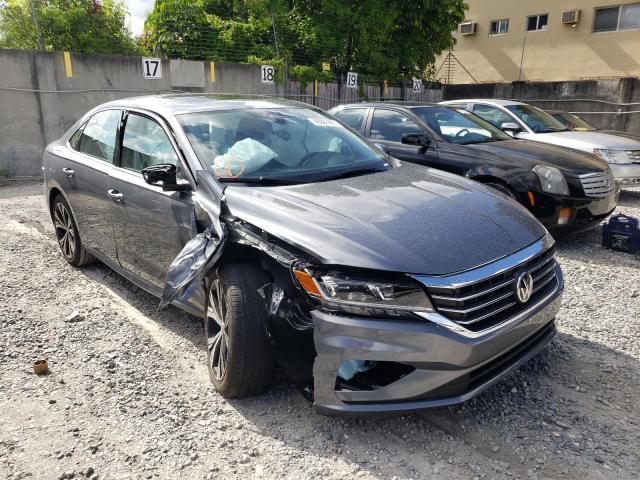Salvage cars for sale from Copart Opa Locka, FL: 2021 Volkswagen Passat SE