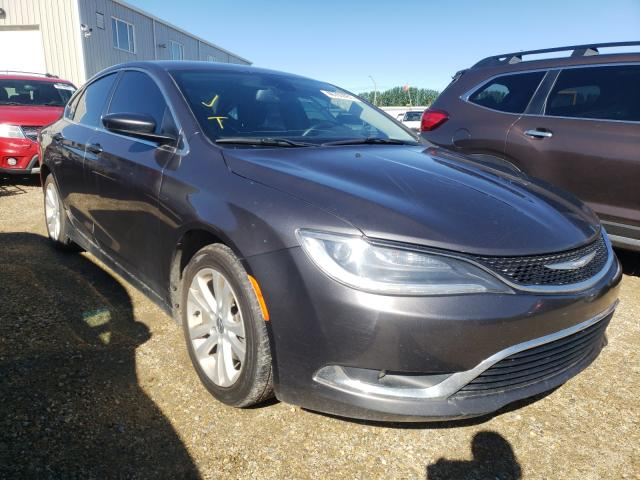 Salvage cars for sale from Copart Nisku, AB: 2016 Chrysler 200 Limited