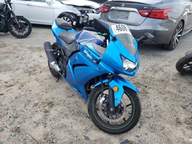 Salvage motorcycles for sale at Savannah, GA auction: 2009 Kawasaki EX250 J