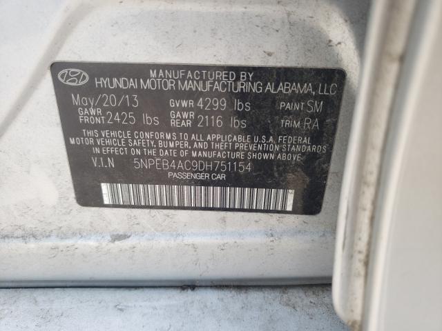 2013 HYUNDAI SONATA GLS 5NPEB4AC9DH751154