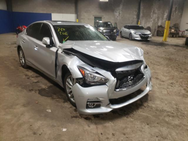 Salvage cars for sale from Copart Chalfont, PA: 2015 Infiniti Q50 Base