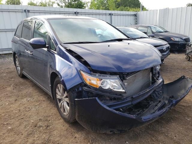 Salvage cars for sale from Copart Columbia Station, OH: 2016 Honda Odyssey SE