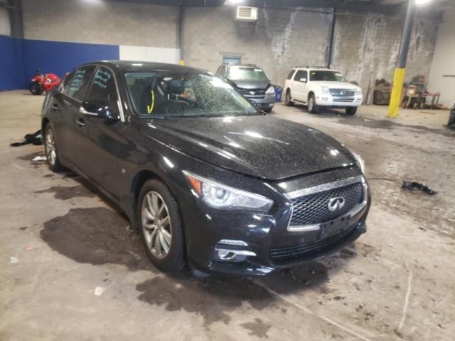 Salvage cars for sale from Copart Chalfont, PA: 2014 Infiniti Q50 Base