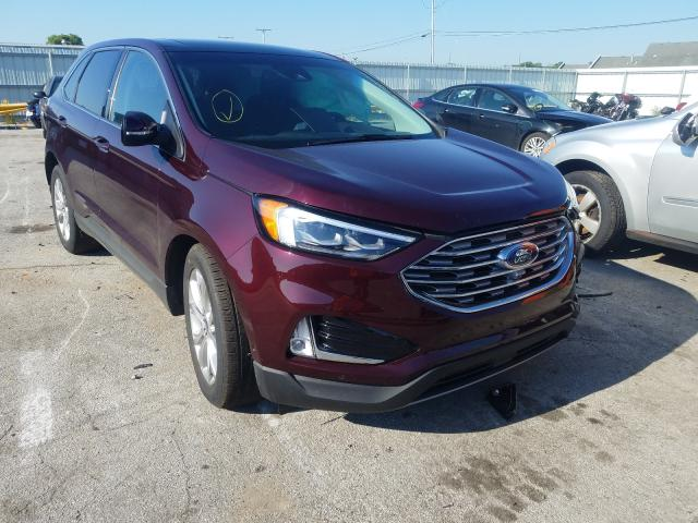 Salvage cars for sale from Copart Dyer, IN: 2019 Ford Edge Titanium