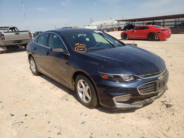 Salvage cars for sale at Andrews, TX auction: 2017 Chevrolet Malibu LS