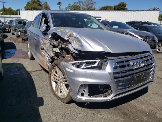 Salvage cars for sale from Copart Vallejo, CA: 2019 Audi Q5 Premium