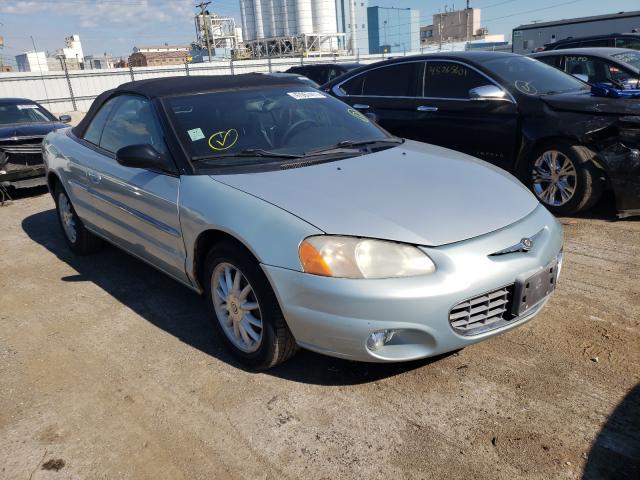 Chrysler Sebring salvage cars for sale: 2002 Chrysler Sebring