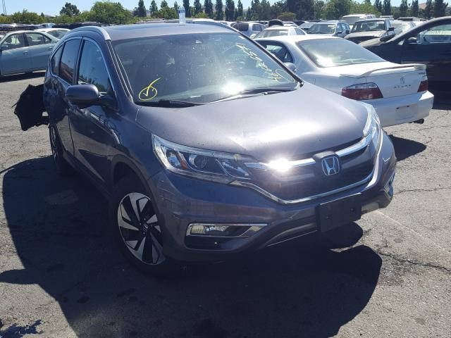 Salvage cars for sale from Copart Vallejo, CA: 2016 Honda CR-V Touring