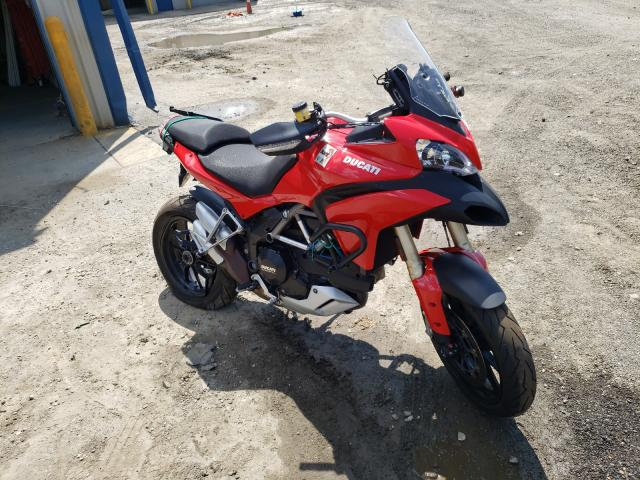 Salvage motorcycles for sale at Waldorf, MD auction: 2012 Ducati Multistrad