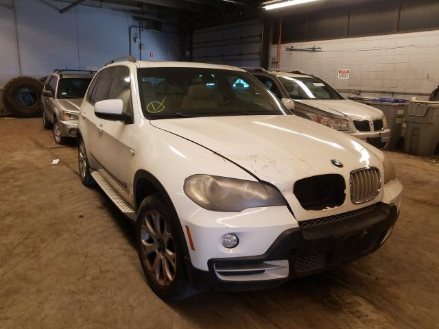 Salvage cars for sale from Copart Wheeling, IL: 2007 BMW X5 4.8I