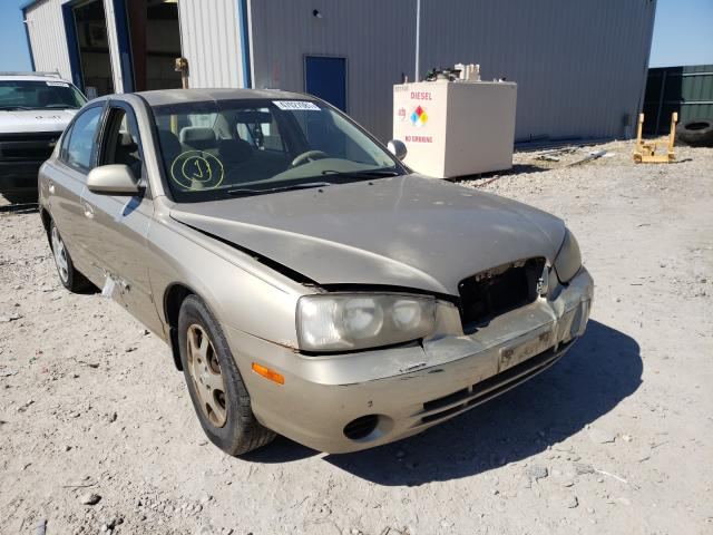Salvage cars for sale from Copart Sikeston, MO: 2002 Hyundai Elantra GL