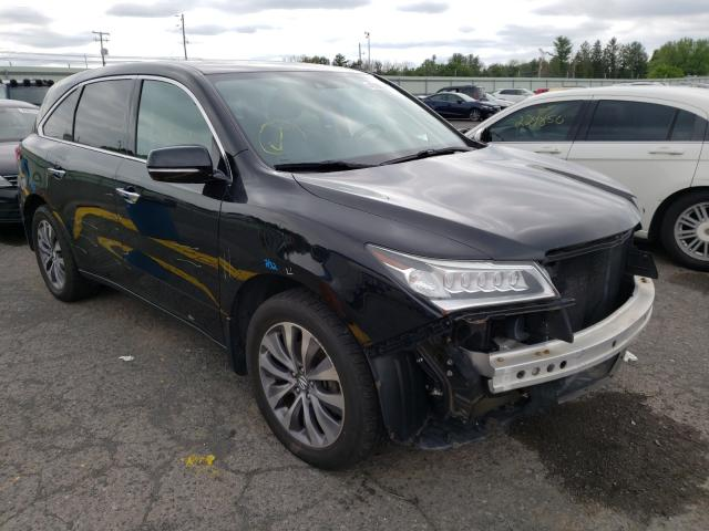 Salvage cars for sale from Copart Pennsburg, PA: 2014 Acura MDX Techno