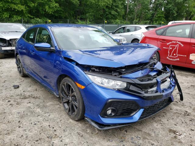 Salvage cars for sale at Candia, NH auction: 2019 Honda Civic Sport