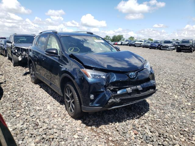 Salvage cars for sale from Copart Pennsburg, PA: 2018 Toyota Rav4 HV SE