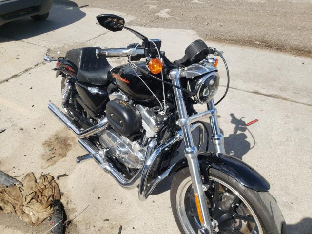 Salvage motorcycles for sale at Woodhaven, MI auction: 2012 Harley-Davidson XL883 Super