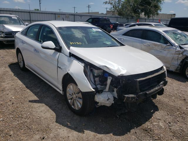 Salvage cars for sale from Copart Mercedes, TX: 2017 Hyundai Sonata Hybrid