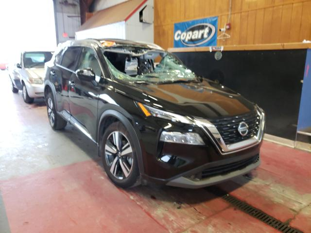 Salvage cars for sale from Copart Angola, NY: 2021 Nissan Rogue SL