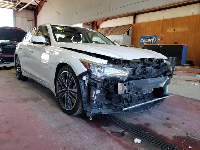 Salvage cars for sale from Copart Angola, NY: 2014 Infiniti Q50