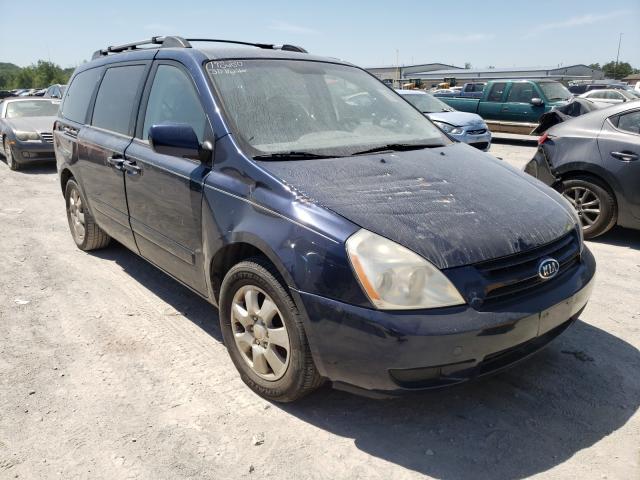 Salvage cars for sale from Copart Alorton, IL: 2007 KIA Sedona EX