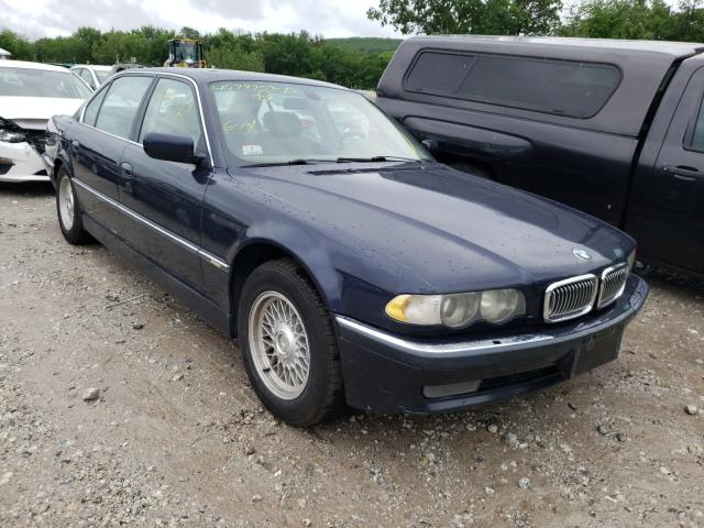 Salvage cars for sale from Copart West Warren, MA: 2001 BMW 740 IL