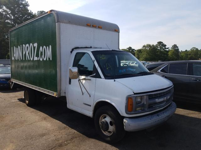 Salvage trucks for sale at Eight Mile, AL auction: 2002 Chevrolet Express G3