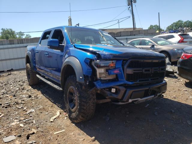 Salvage cars for sale from Copart Hillsborough, NJ: 2017 Ford F150 Rapto