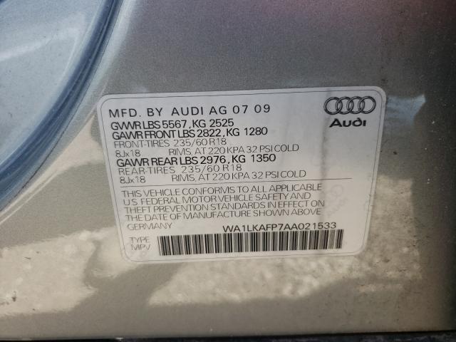 2010 AUDI Q5 PREMIUM WA1LKAFP7AA021533