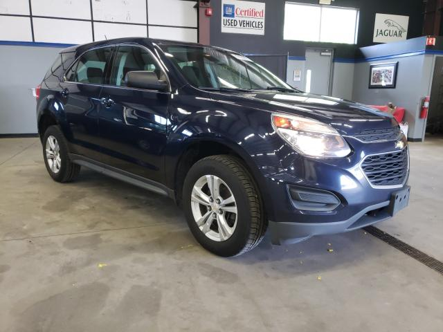 Salvage cars for sale from Copart East Granby, CT: 2016 Chevrolet Equinox LS