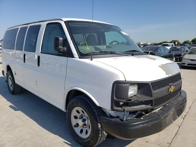 Salvage cars for sale from Copart Grand Prairie, TX: 2013 Chevrolet Express G1