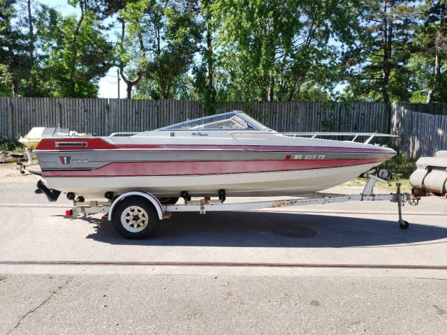Salvage boats for sale at Ham Lake, MN auction: 1989 Wells Cargo Boat
