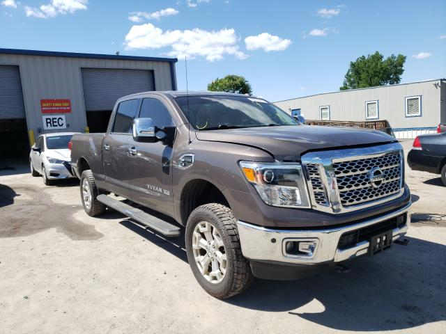 Salvage cars for sale from Copart Duryea, PA: 2016 Nissan Titan XD S