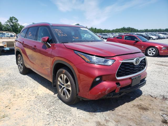 Toyota salvage cars for sale: 2020 Toyota Highlander