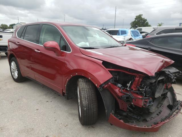 Salvage cars for sale from Copart Riverview, FL: 2017 Buick Envision P