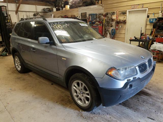 Salvage cars for sale from Copart Billings, MT: 2004 BMW X3 2.5I