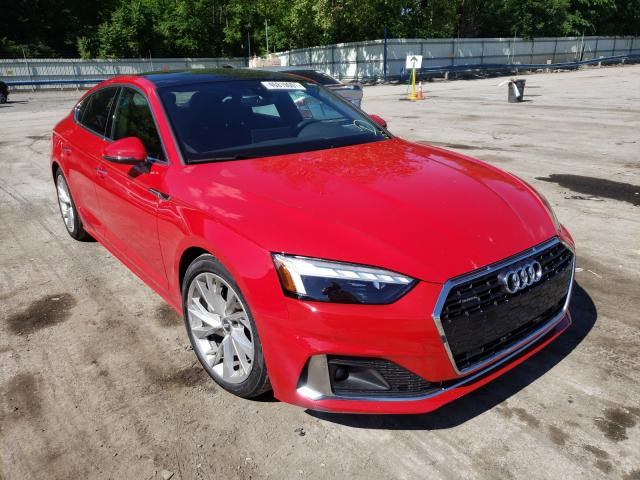 Salvage cars for sale from Copart Ellwood City, PA: 2020 Audi A5 Premium