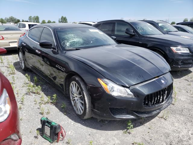 Salvage cars for sale from Copart Ontario Auction, ON: 2016 Maserati Quattropor